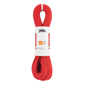 Petzl Rumba Climbing Rope 8mm x 50m red